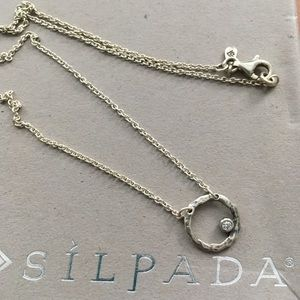 Silpada orbiting moon silver necklace N2290